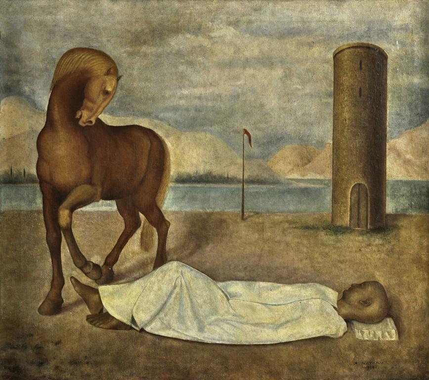 Arturo Nathan | L'abbandonato, 1928 | Olio su tela, 79,5 x 88,5 cm | Collezione privata