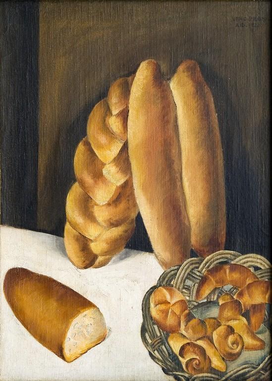 Veno Pilon | Pane, 1921 | olio su tela, 77,5 x 55,5 cm | Pilonova Galerija, Ajdov¨čina