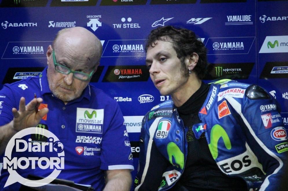 Valentino Rossi con il suo capotecnico Silvano Galbusera