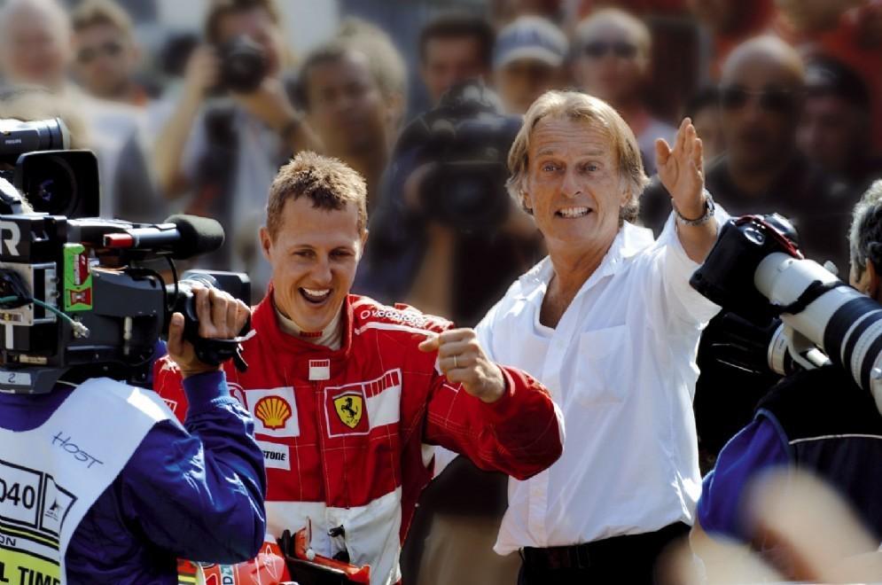 Luca di Montezemolo e Michael Schumacher
