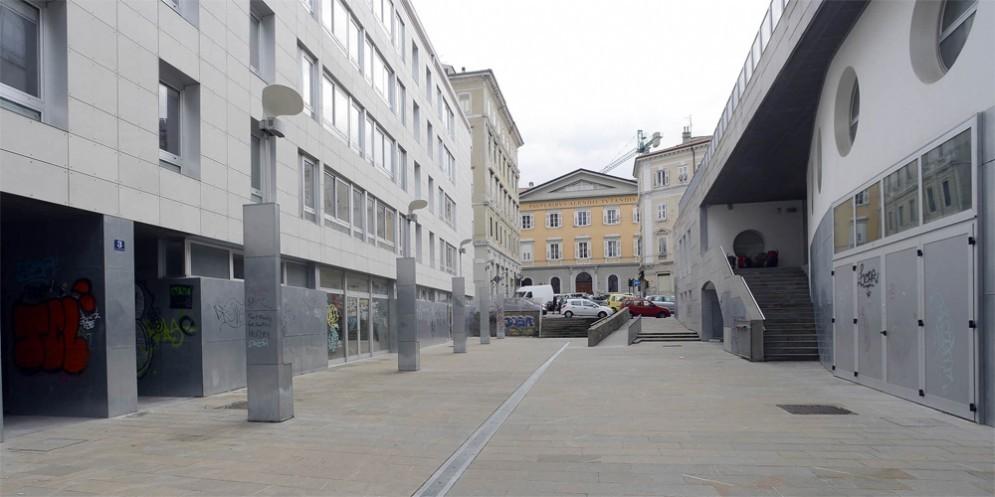 La zona delle case Ater di Trieste