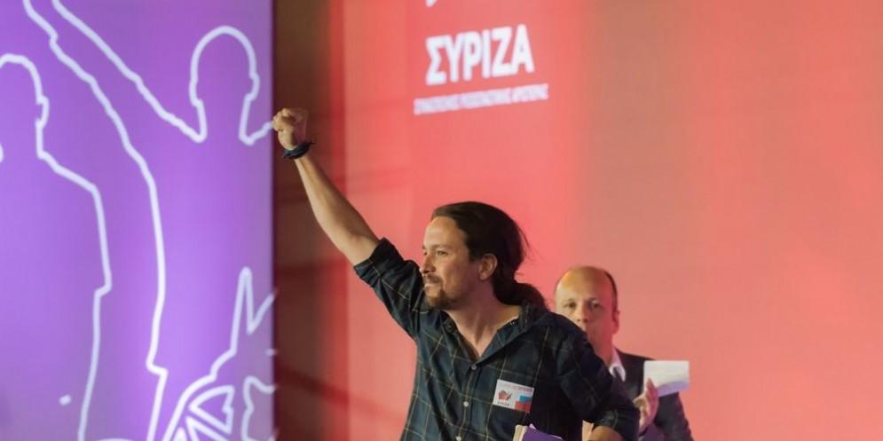 Il leader di Podemos Pablo Iglesias.