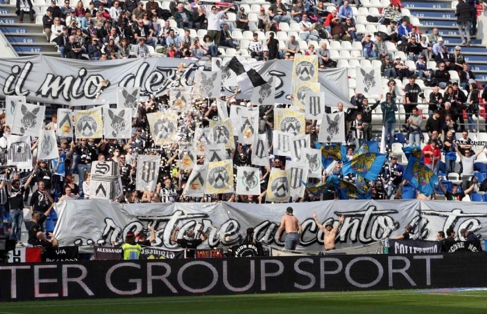 I tifosi dell'Udinese arrivati in massa in Emilia (© Diario di Udine)