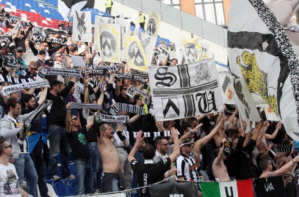 I tifosi dell'Udinese in trasferta