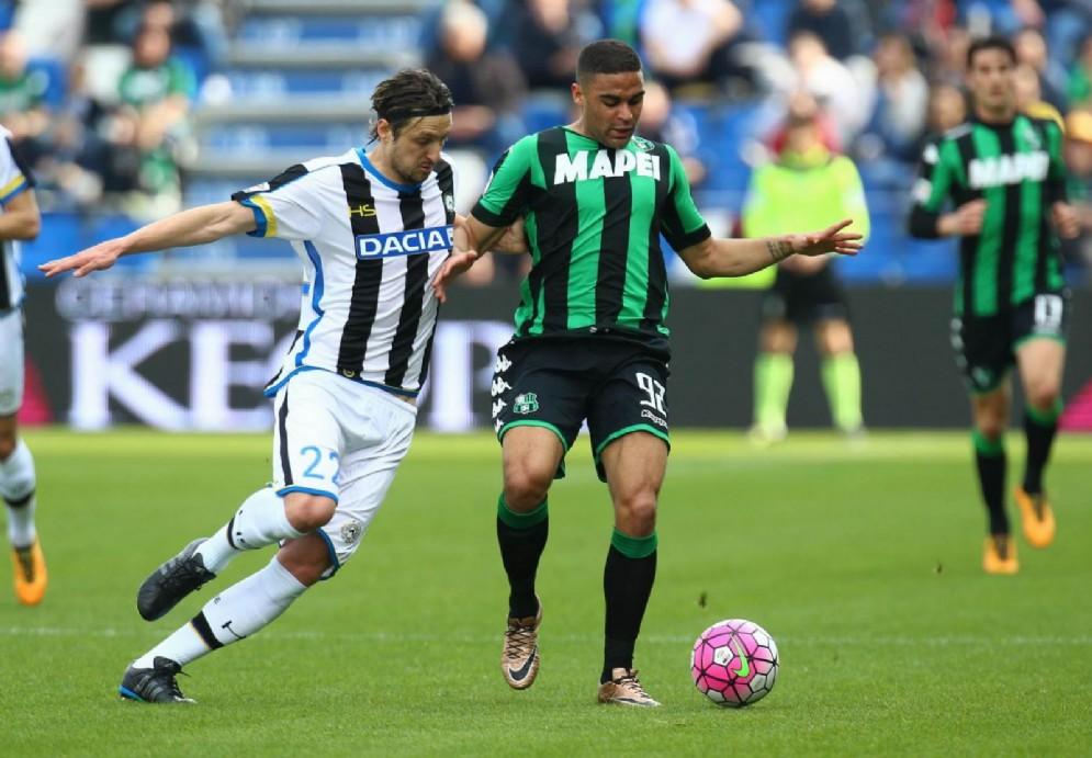 L'Udinese in campo contro il Sassuolo