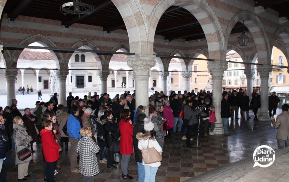 I partecipanti alla manifestazione di Udine