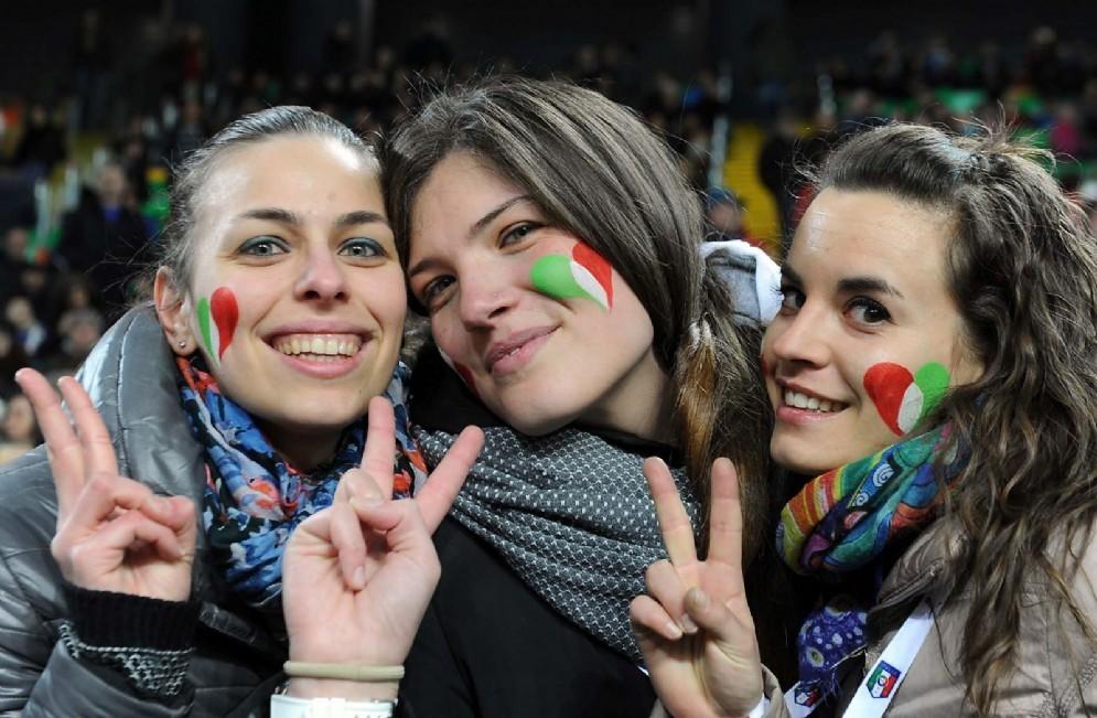 Tre tifose azzurre (© Diario di Udine)