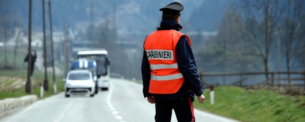 Carabinieri in servizio.