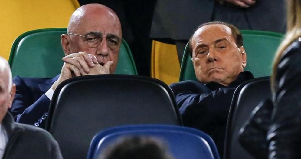 Adriano Galliani con Silvio Berlusconi
