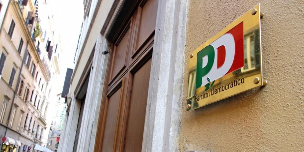 La sede del Pd in via del Nazareno, Roma.