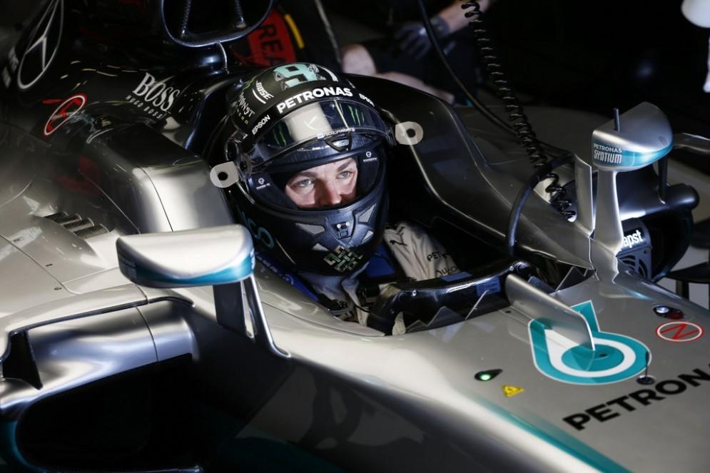 Nico Rosberg sulla Mercedes