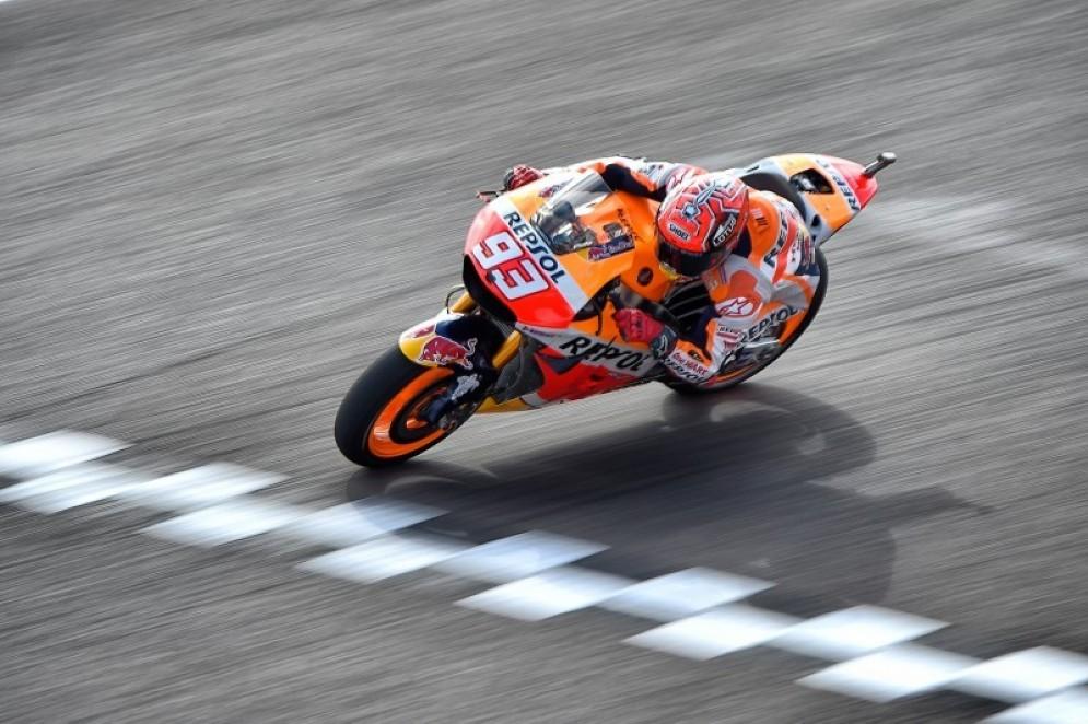 Marc Marquez in pista in Argentina