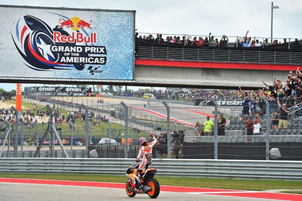 Marquez taglia il traguardo del GP degli Stati Uniti