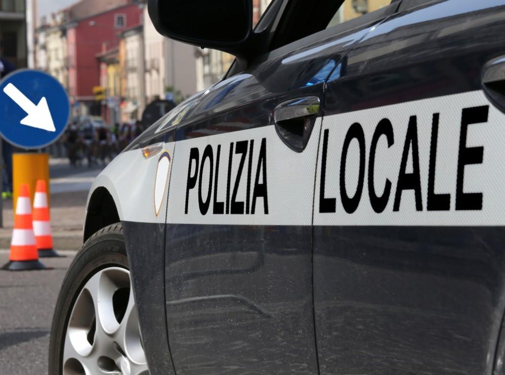 Una volante della Polizia.