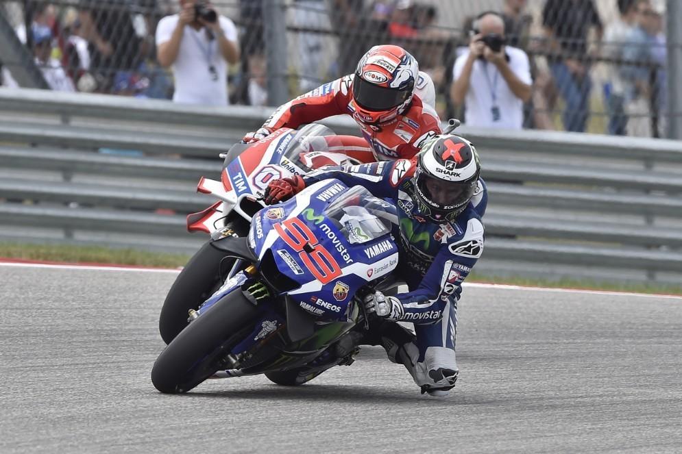 Jorge Lorenzo in lotta con la Ducati