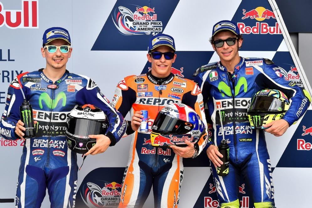 Lorenzo, Marquez e Rossi