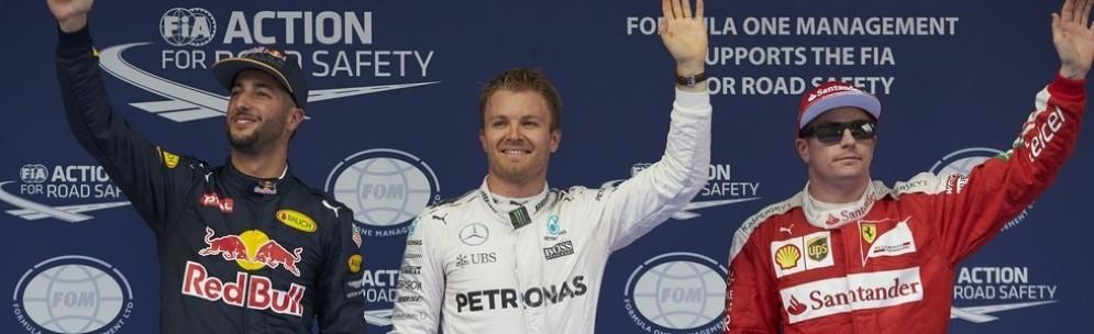 La top 3 delle qualifiche in Cina: Rosberg, Ricciardo e Raikkonen
