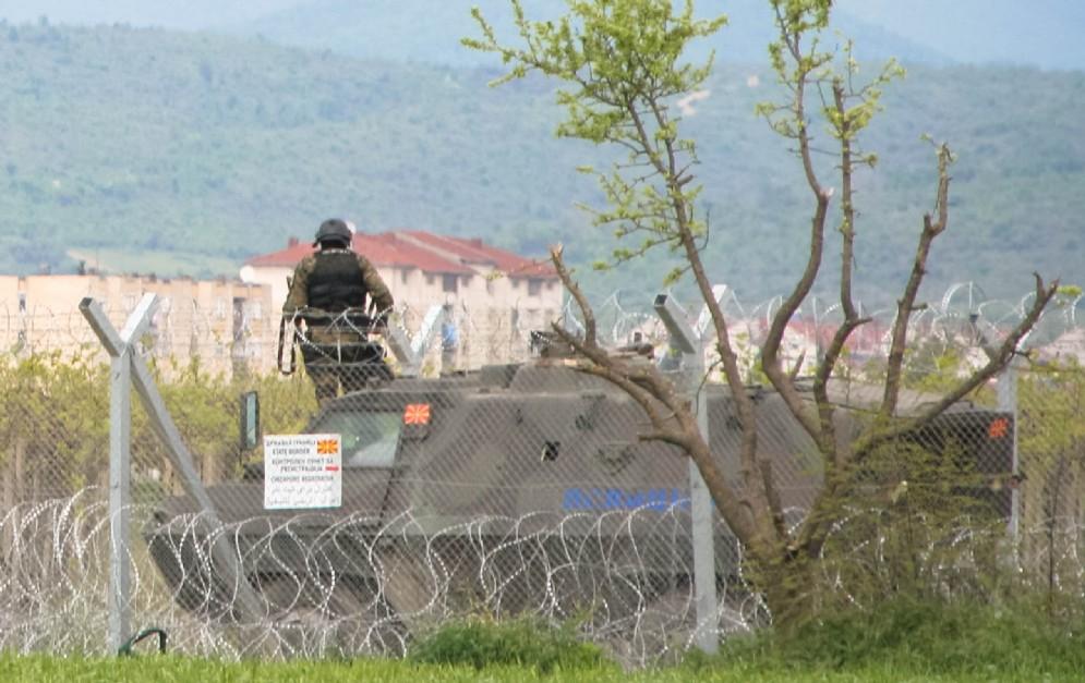 Idomeni, confine fra Grecia e Macedonia