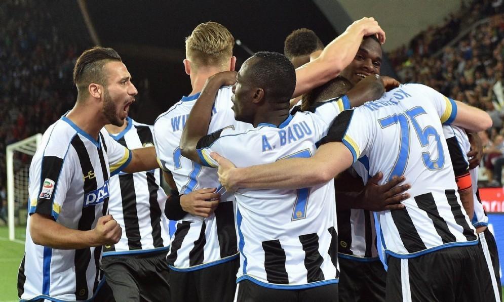 La gioia dell'Udinese dopo il gol (© Diario di Udine)