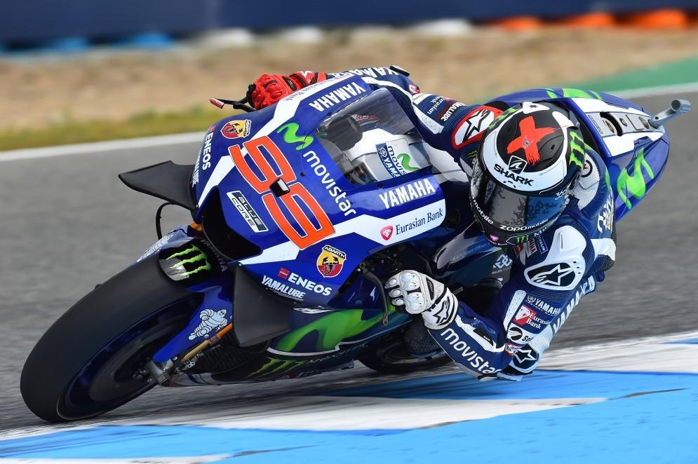 Jorge Lorenzo in pista a Jerez
