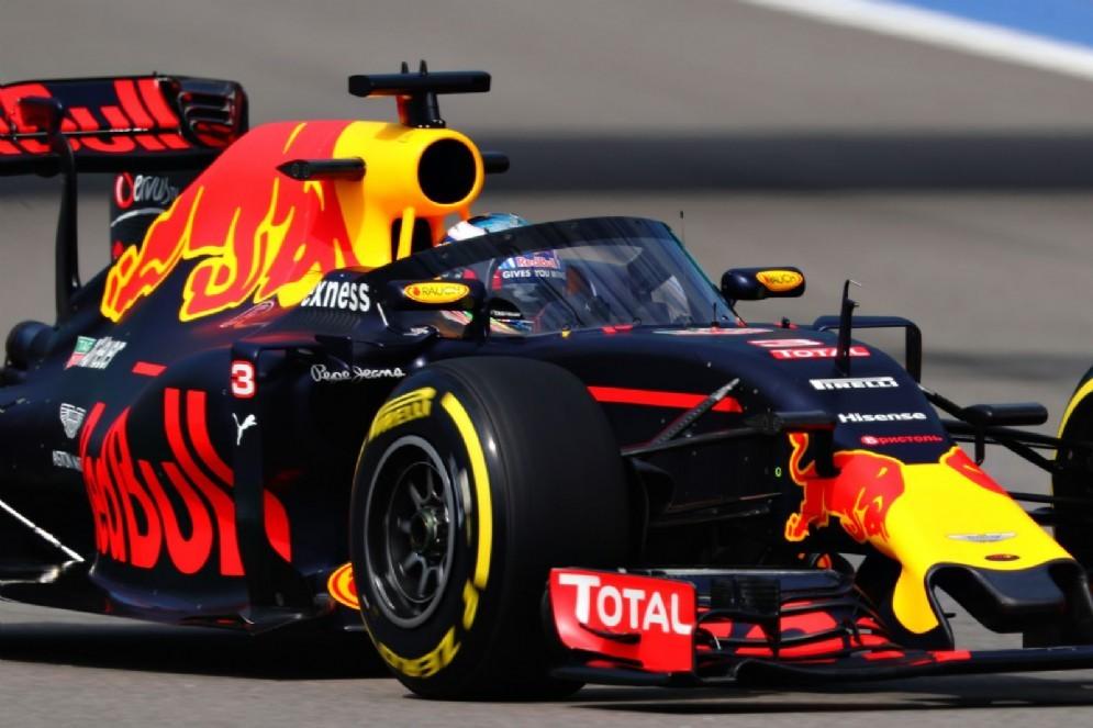 L'Aeroscreen sulla Red Bull di Ricciardo