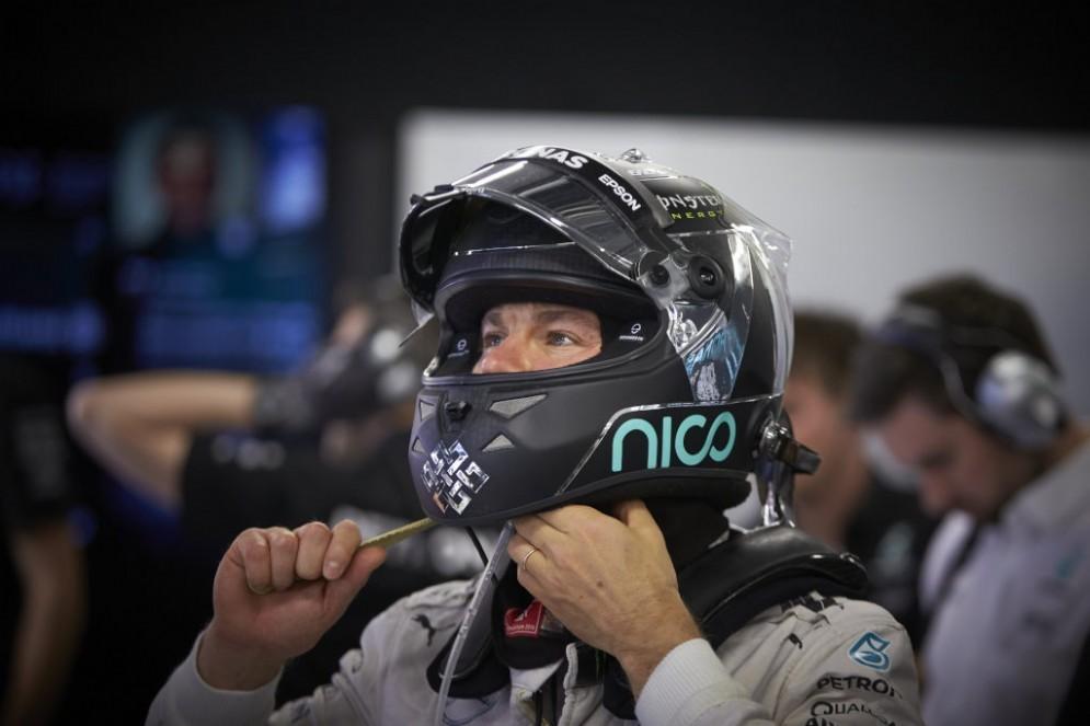 Nico Rosberg al termine delle prove in Russia