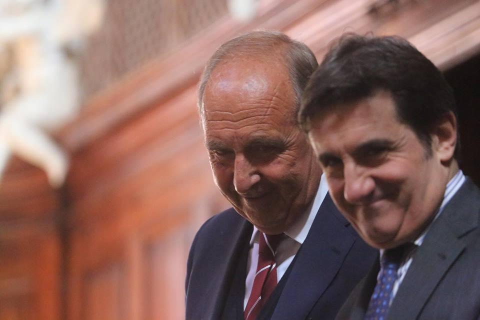 Il presidente Cairo con Ventura nella Basilica di Superga