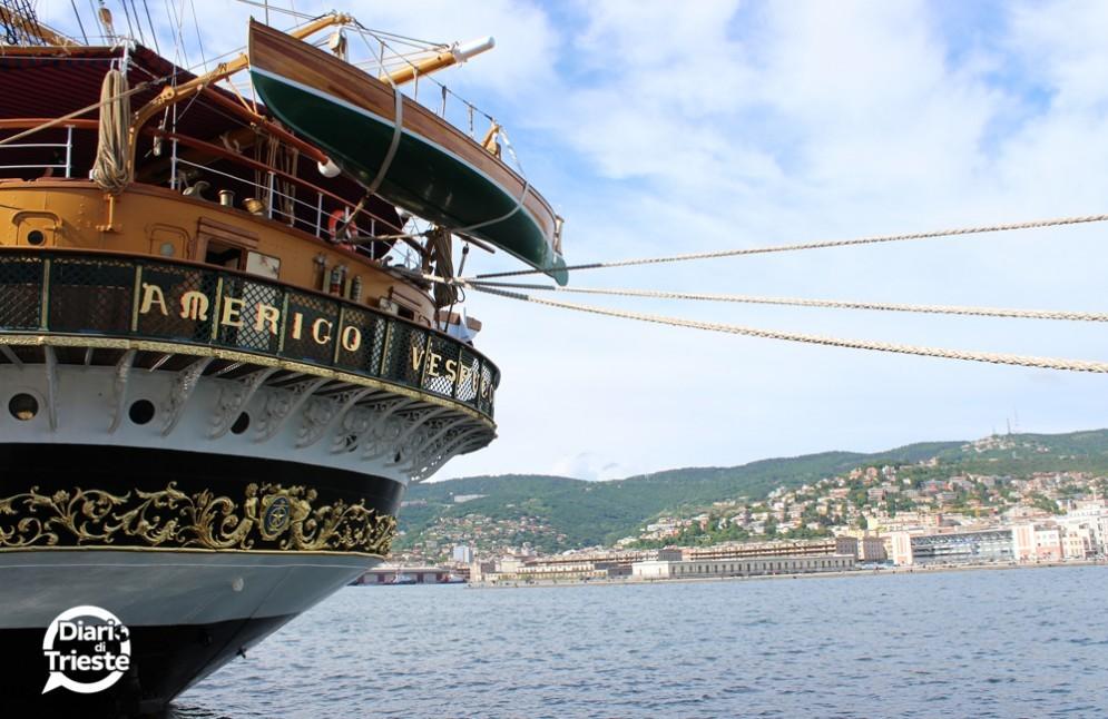 Il veliero Vespucci ormeggiato a Trieste (© Diario di Trieste)