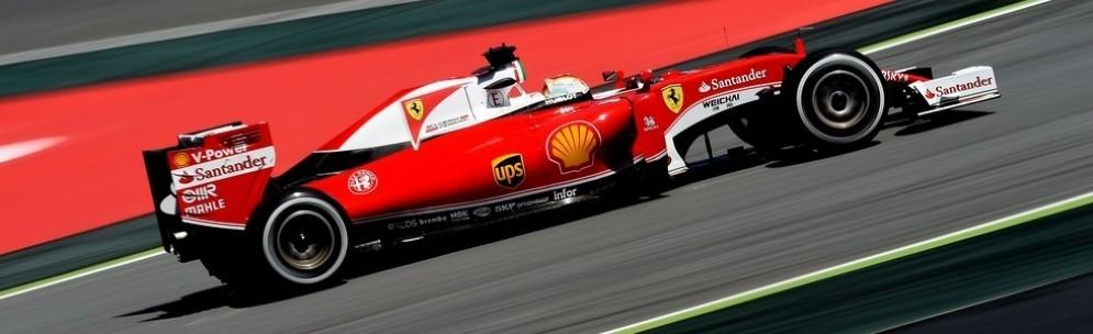 Sebastian Vettel in azione a Barcellona