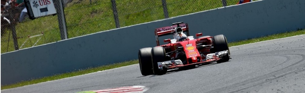 Kimi Raikkonen in azione nel Gran Premio di Spagna