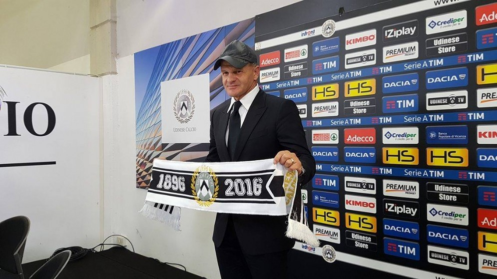 Il nuovo allenatore dell'Udinese Inchini