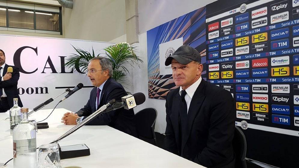 La presentazione del nuovo allenatore dell'Udinese Inchini