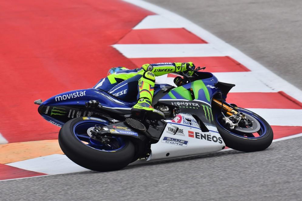 Rossi sulla sua Yamaha M1