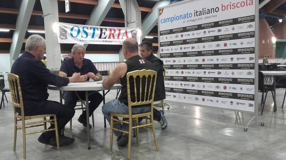I finalisti del primo Campionato italiano di briscola