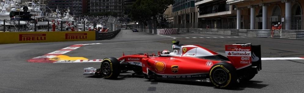 Sebastian Vettel in azione nelle prove libere