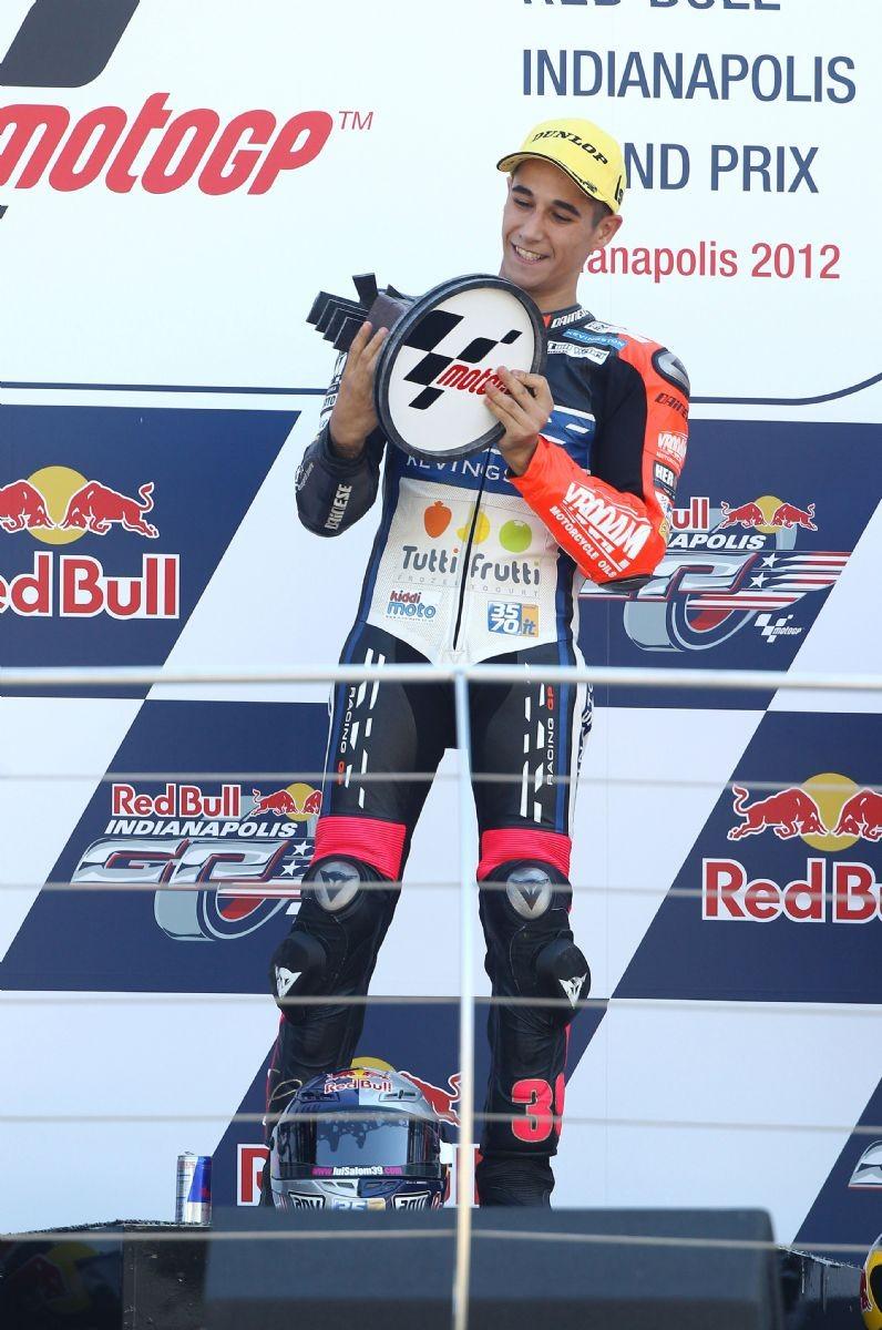 La sua prima vittoria nel Motomondiale: GP di Indianapolis 2012