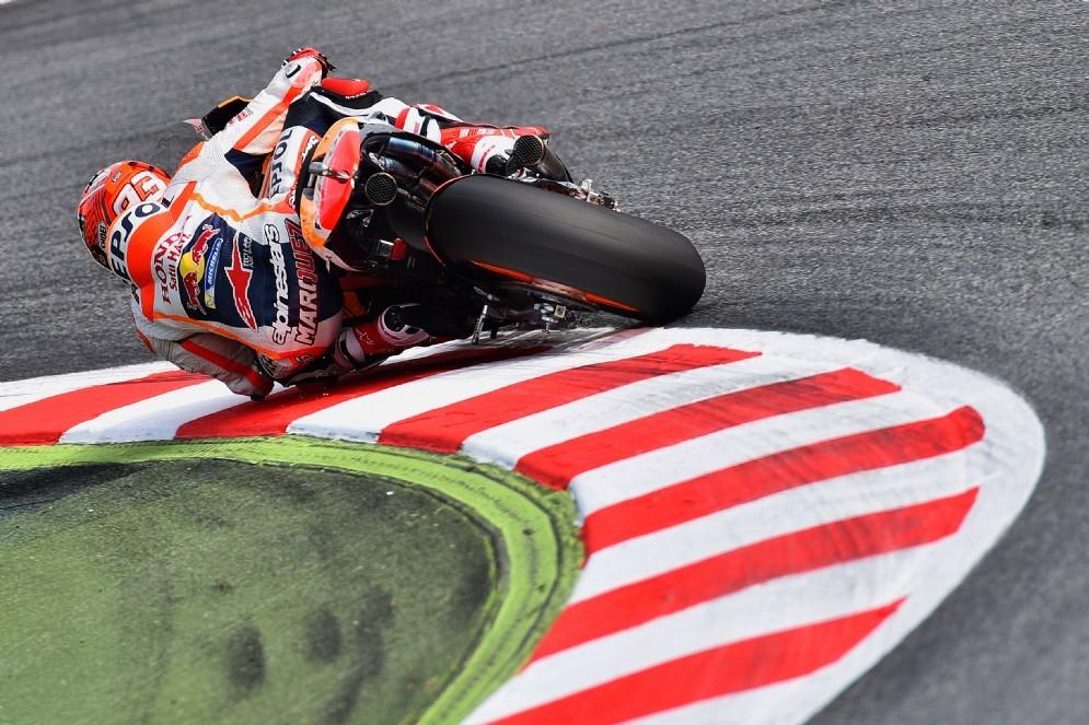 Marc Marquez in azione a Barcellona