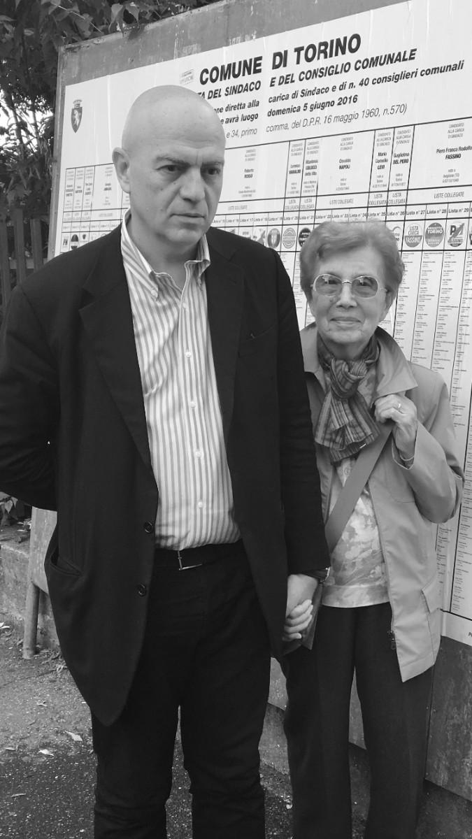 Marco Rizzo (con la madre)