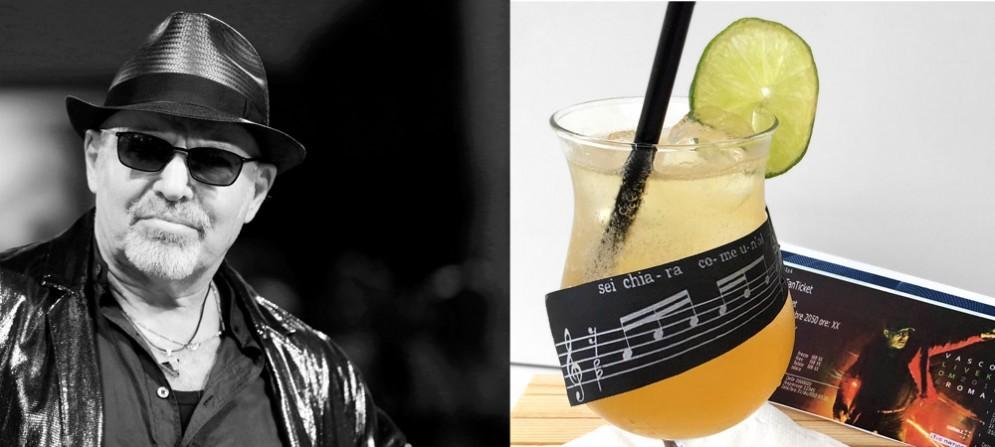 Vasco e il drink Albachiara nato in onore del suo concertone a Lignano