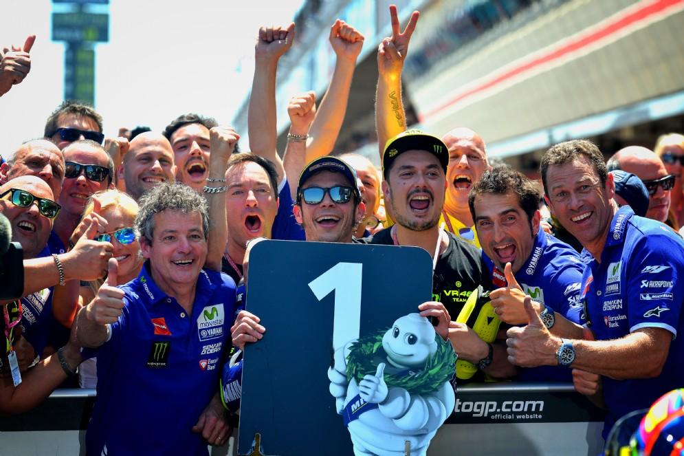 La festa con il team Yamaha
