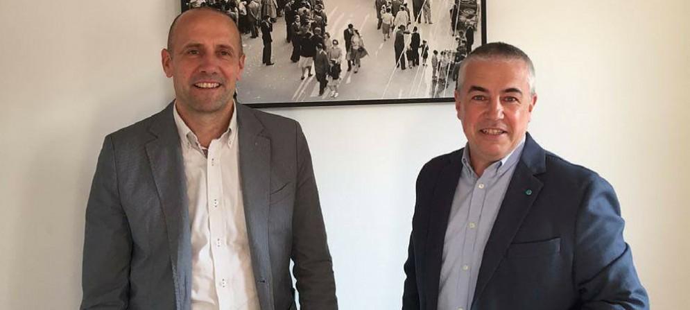 A sinistra, il presidente di Coop Casarsa Praturlon, a destra il nuovo vice Giavi