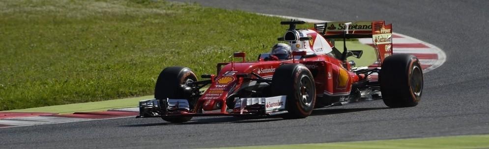 La Ferrari SF16-H di Sebastian Vettel