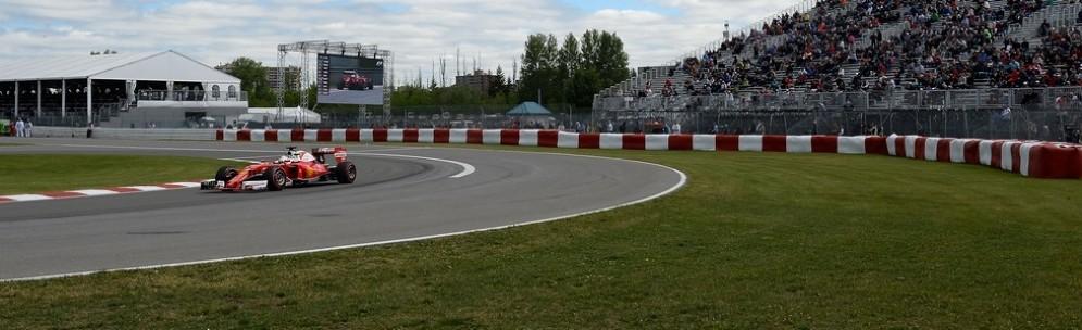 Sebastian Vettel nelle prove libere del GP del Canada