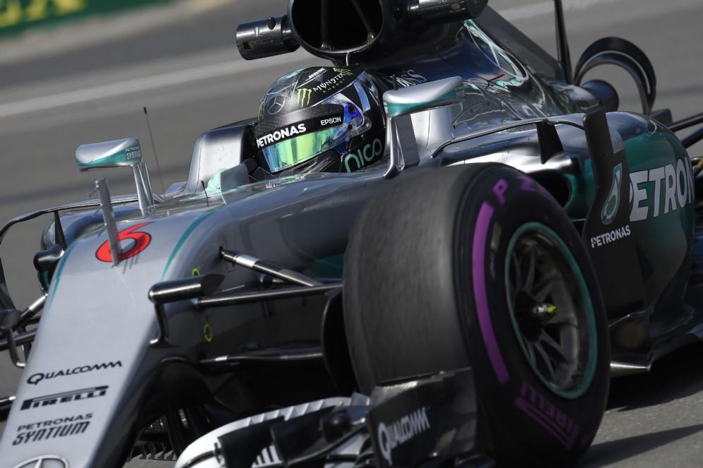 Nico Rosberg in azione a Montreal