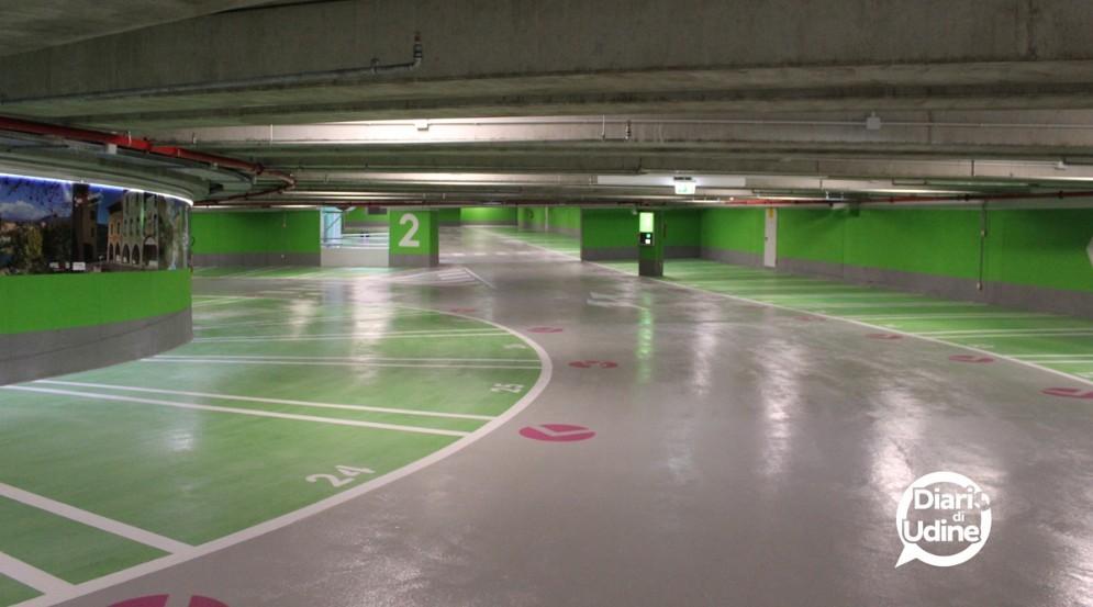 L'interno del nuovo parcheggio (© Diario di Udine)