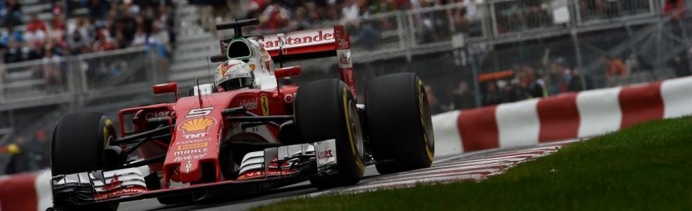 Sebastian Vettel in azione a Montreal
