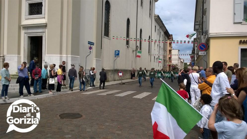 Alpini a Gorizia, il passaggio verso Piazza della Vittoria