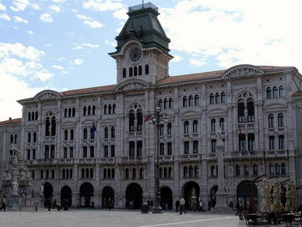 Il municipio di piazza Unità, a Trieste