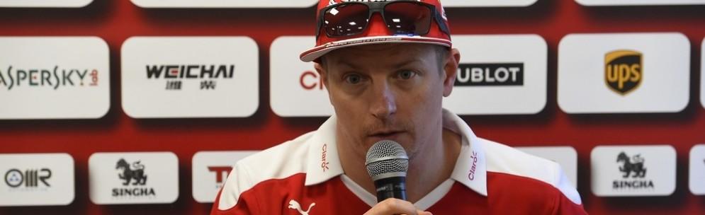 Kimi Raikkonen dopo la gara di Baku