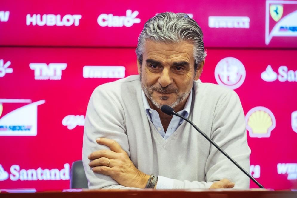 Il team principal Ferrari Maurizio Arrivabene